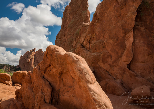 Photograph of Garden of the Gods Kissing Camels & Cathedral Valley Hogback Formations