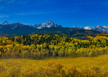 Wide Panoramic Photo of Mount Sneffels & Range Southwestern Colorado