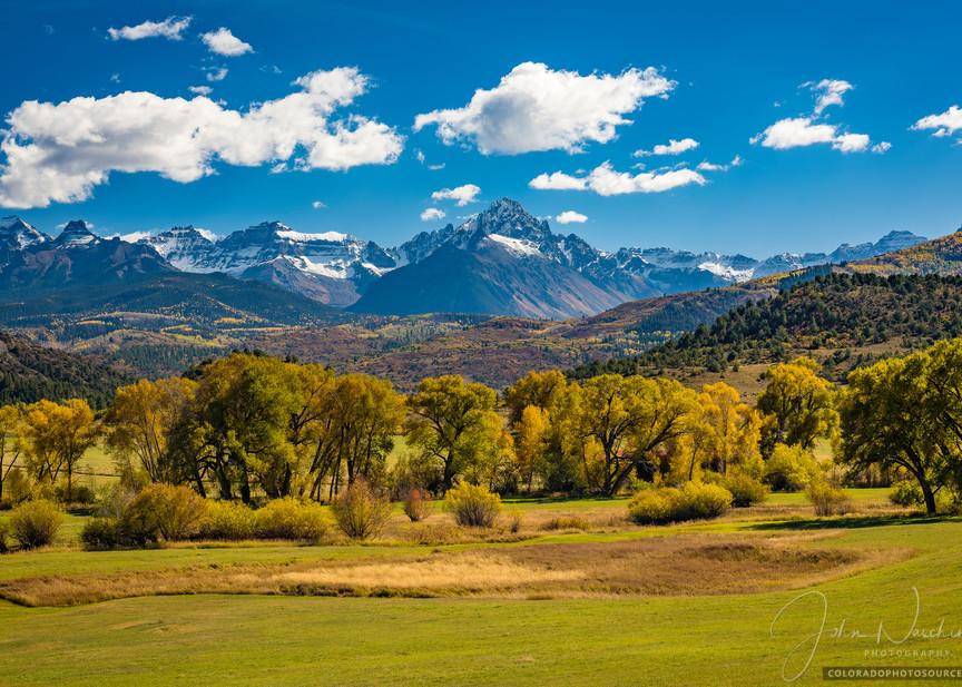 Colorado Landscape Photo of Mt Sneffels Mountain Range From Highway 62