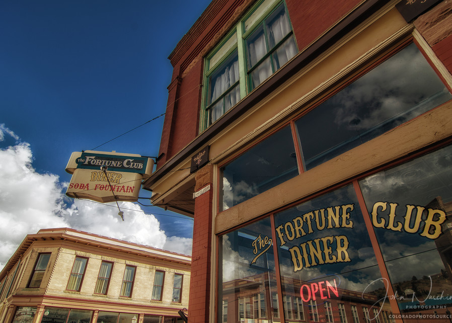 Color Photo of Fortune Club Diner Historic Downtown Victor Colorado