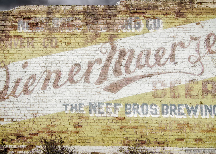 Photo of The Neef Bros Brewing CO Sign Painted on Brick Building Victor Colorado