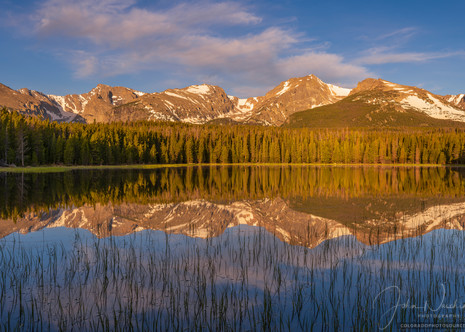 Large Panoramic Photo of Bierstadt Lake Rocky Mountain National Park Colorado