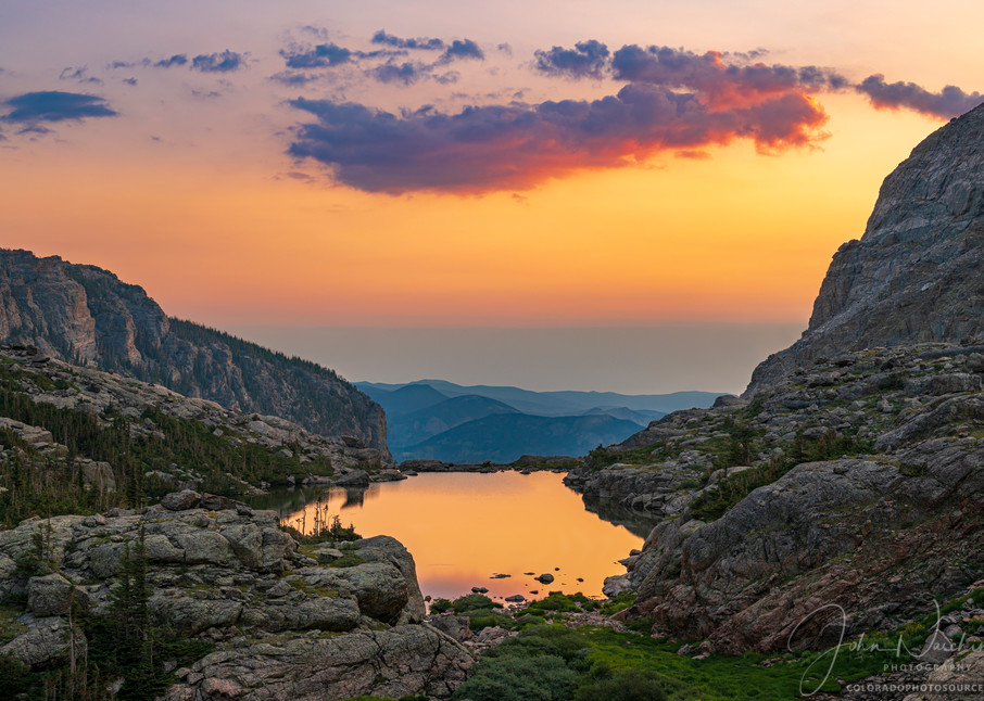 Photo of Lake of Glass from Sky Pond Rocky Mountain National Park Colorado