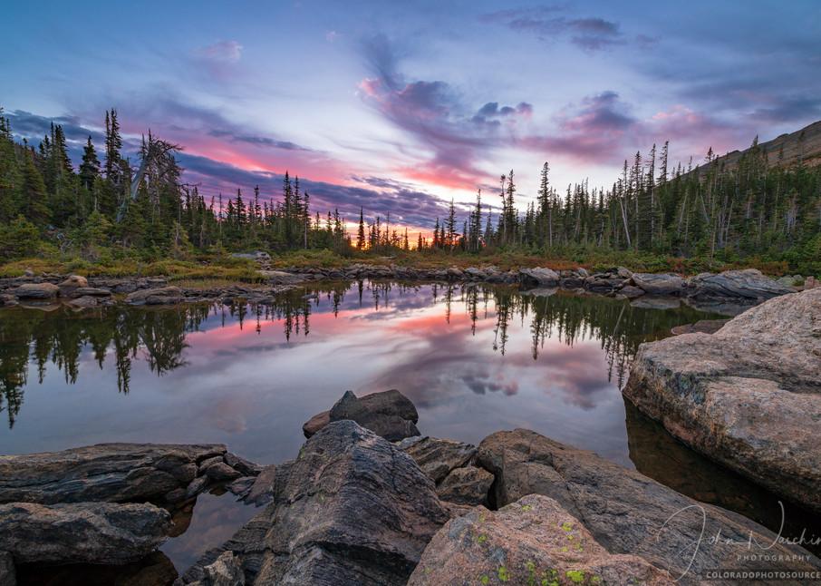 Sunrise Photo of Marigold Pond Rocky Mountain National Park Colorado