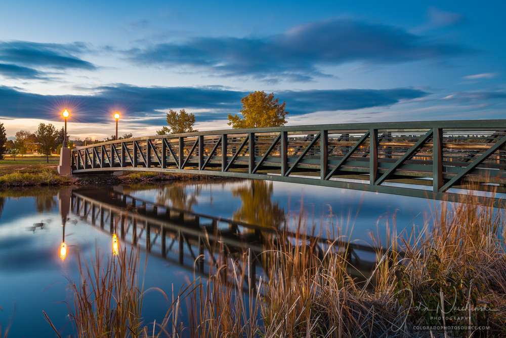 Photograph of Sloan's Lake Footbridge Denver Colorado