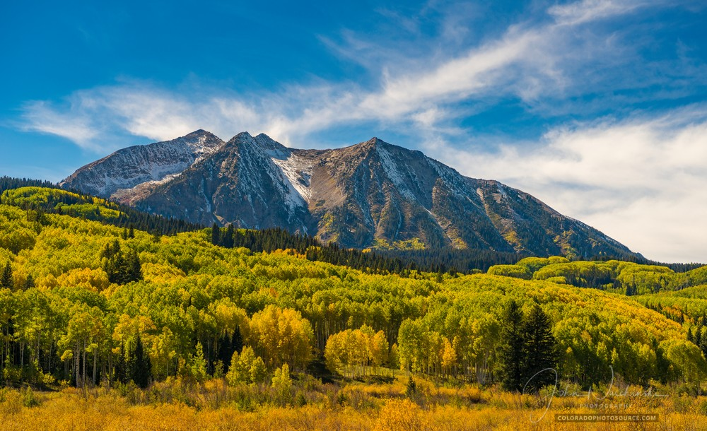 Marcellina Mountain Kebler Pass Fall Colors Crested Butte Colorado - Gunnison National Forest