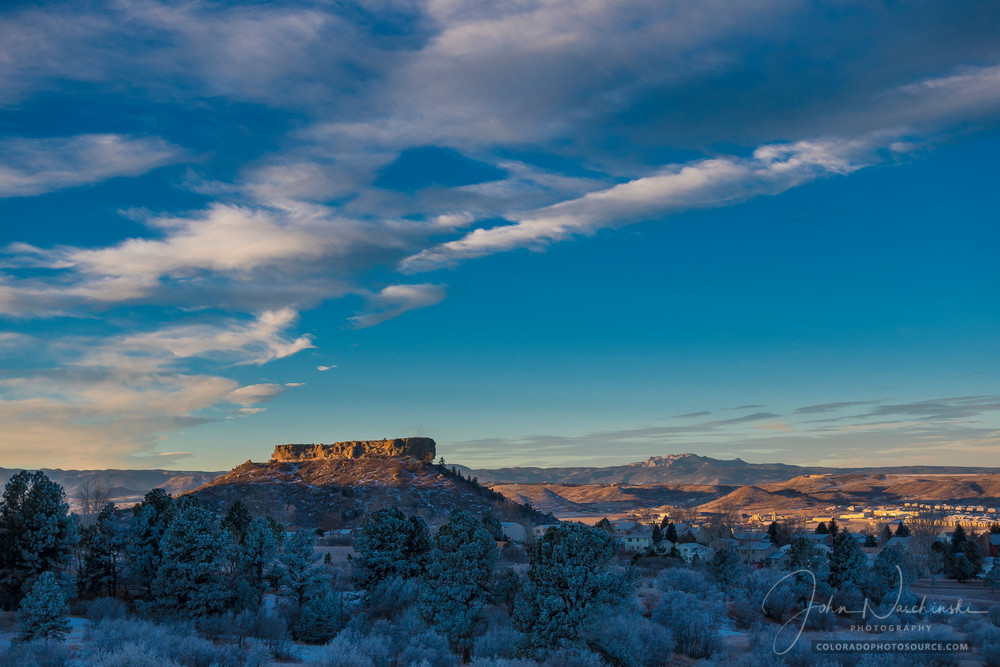 Morning Photo of Castle Rock Colorado Dusting of Snow Late Fall