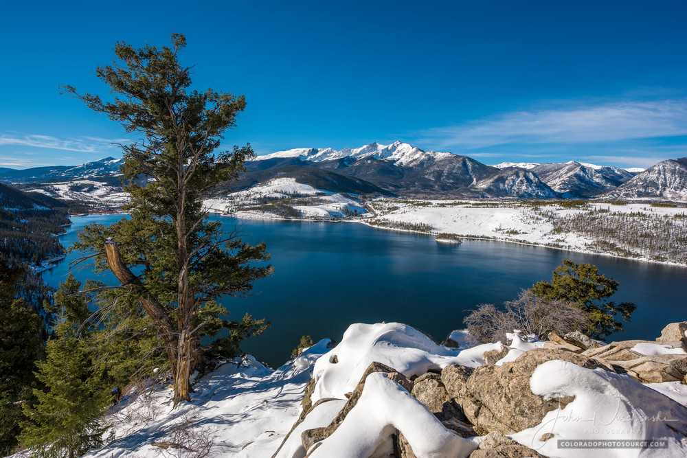 Photo of Snow Covered Peak 10 Lake Dillon Summit County Colorado