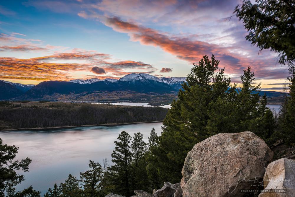 Sunset Photograph of Lake Dillon & Buffalo Mountain Summit County Colorado