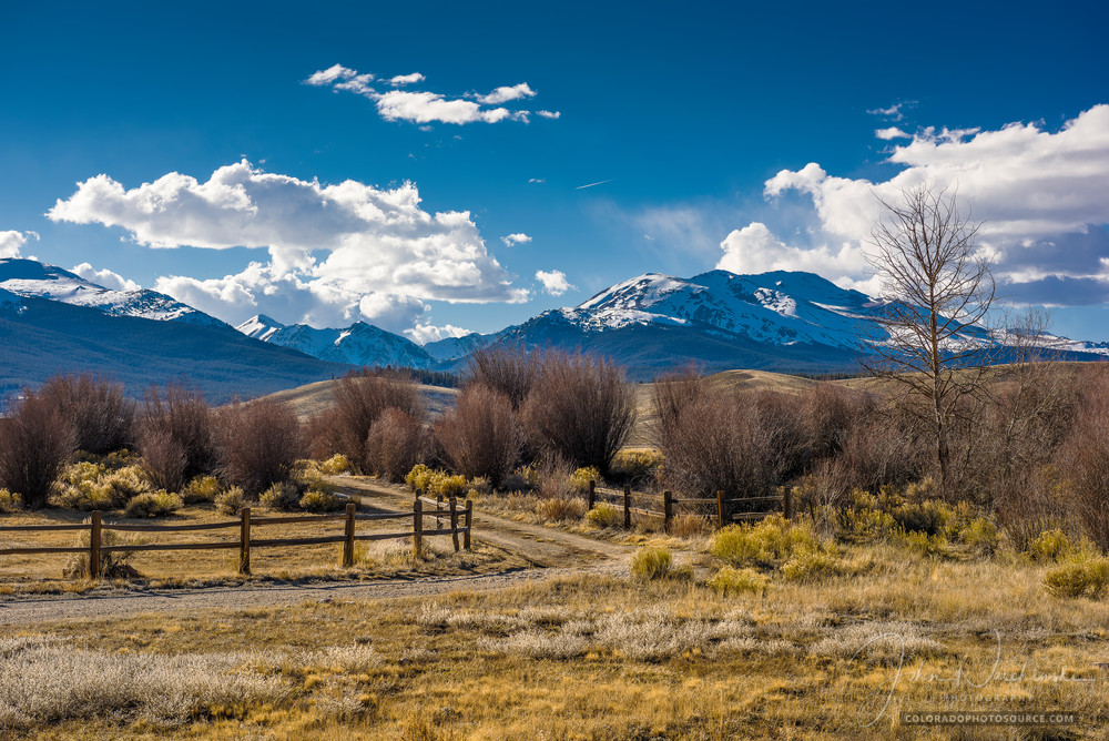 Colorado Landscape Photography of Ranch Road Mt Elbert, French Mountain, Mt Massive