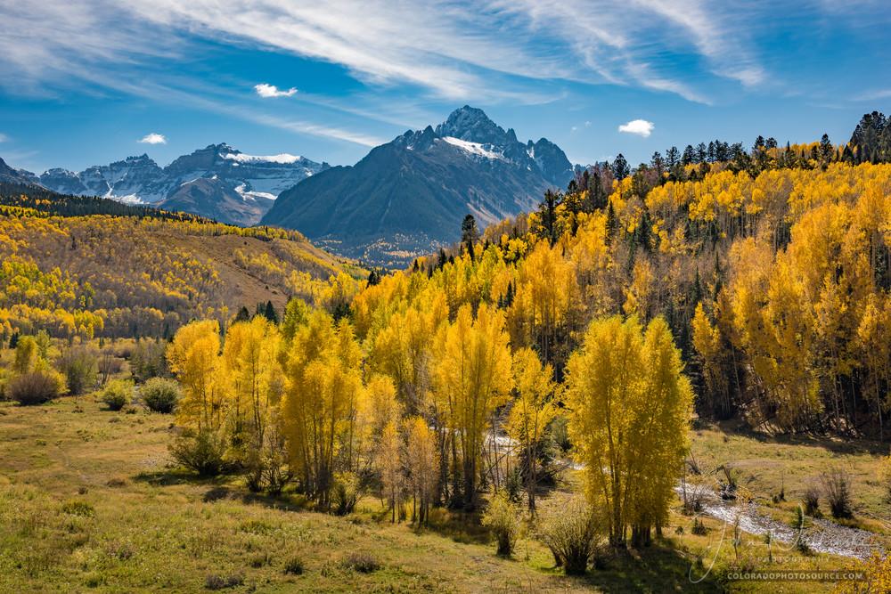 Photograph of Majestic Mt Sneffels - Valley of Golden Aspens & Cottonwoods