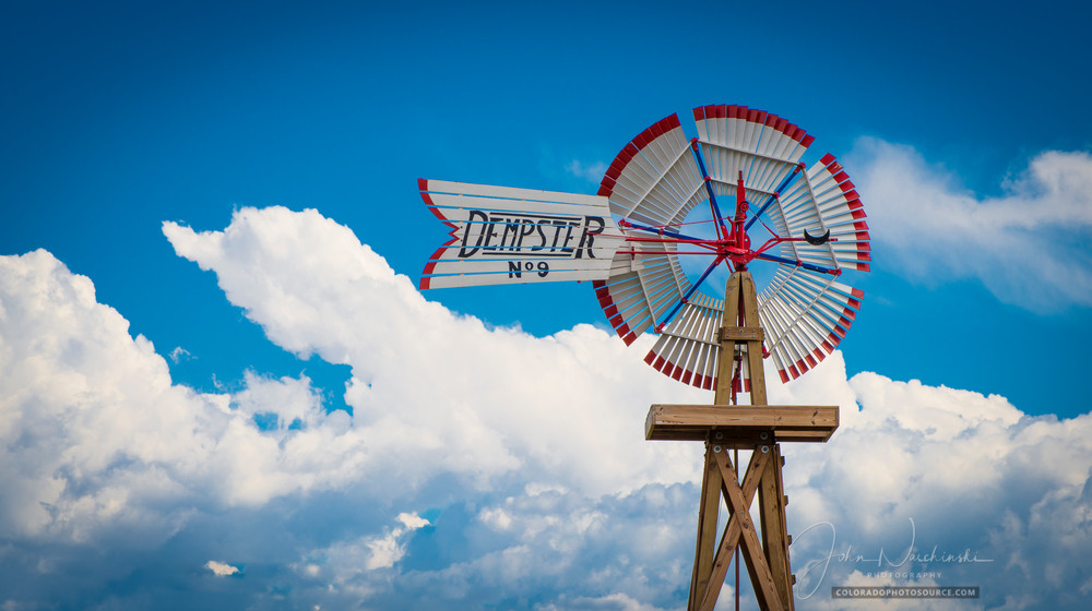 Photo of Parker Colorado Farm Dempster Red & White Windmill
