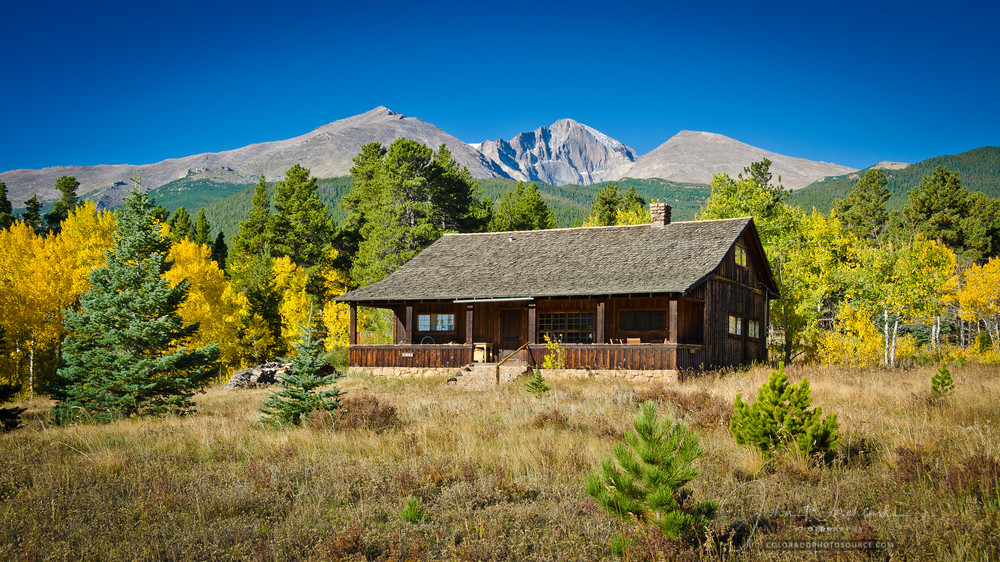 Colorado Landscape Picture Old Cedar Ranch Home Longs Peak