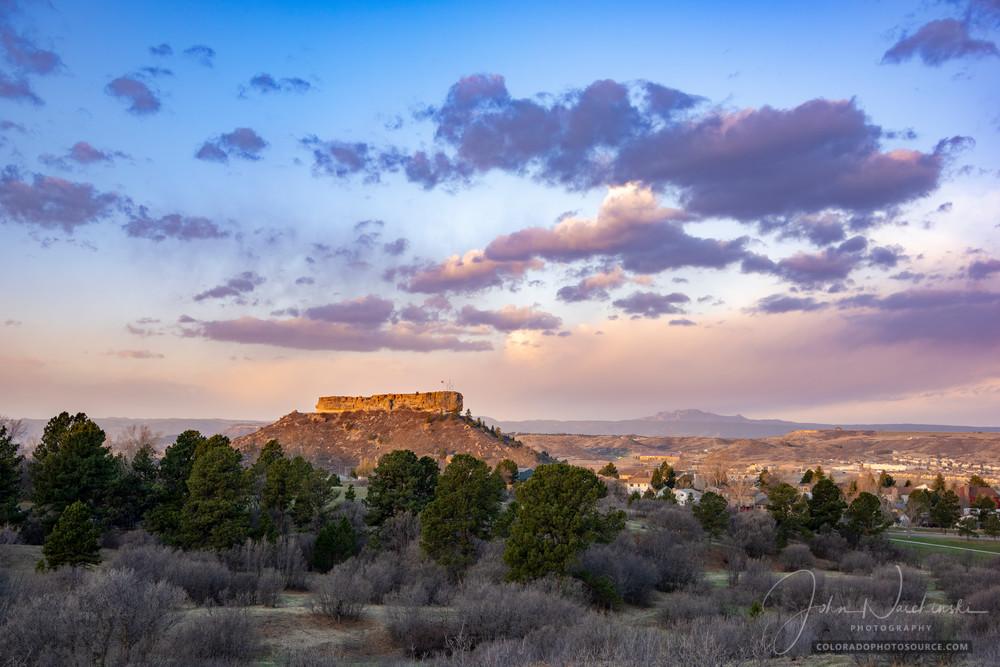 Photo of Castle Rock Colorado Early Spring Morning Sunrise