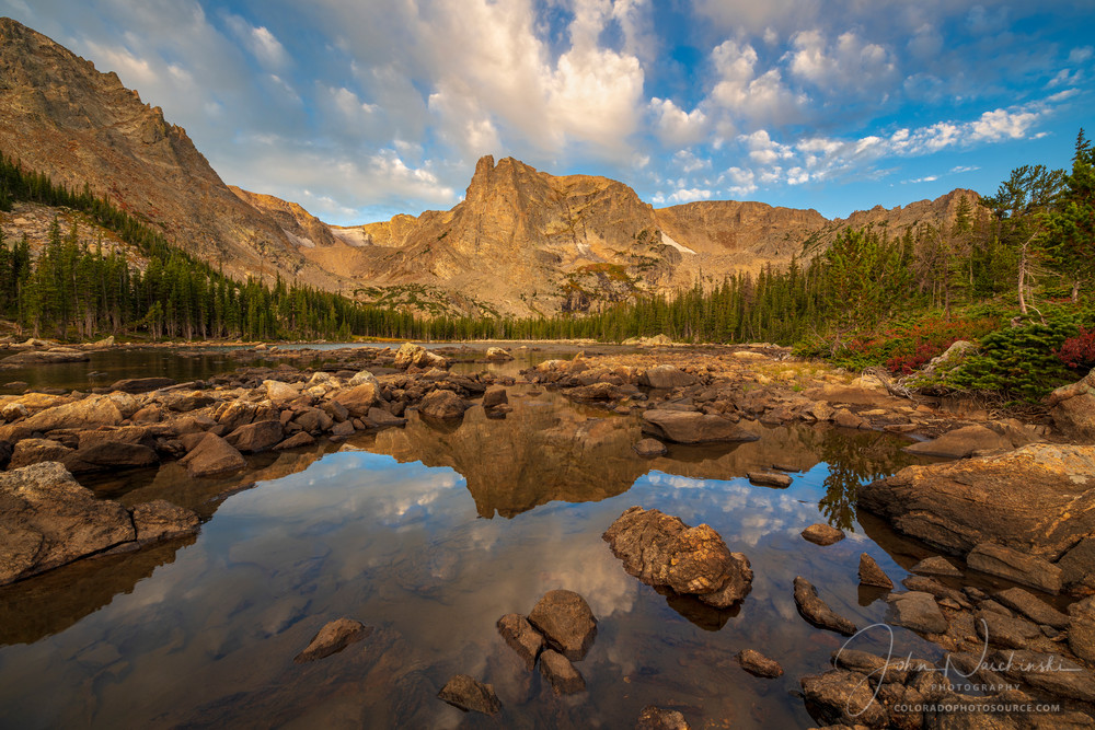 Colorado Photo of Notchtop Mountain at Two Rivers Lake Rocky Mountain National Park