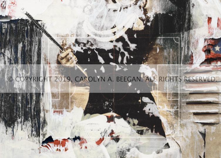 Majorette No. 3, 2019, by artist Carolyn A. Beegan