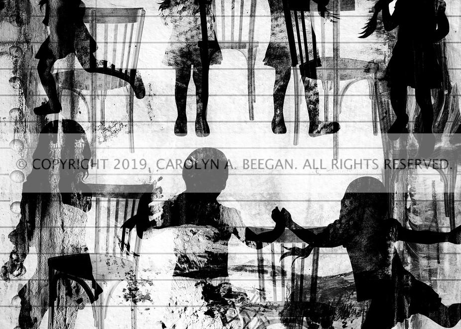 Musical Chairs No. 1, Print, 2019 by artist Carolyn A. Beegan