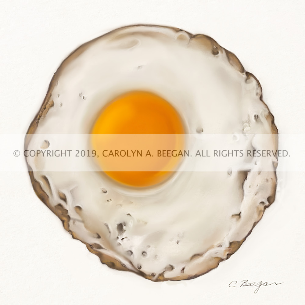 Egg Drawing No. 1, 2020, Coloured Pencil Drawing by artist Carolyn A. Beegan