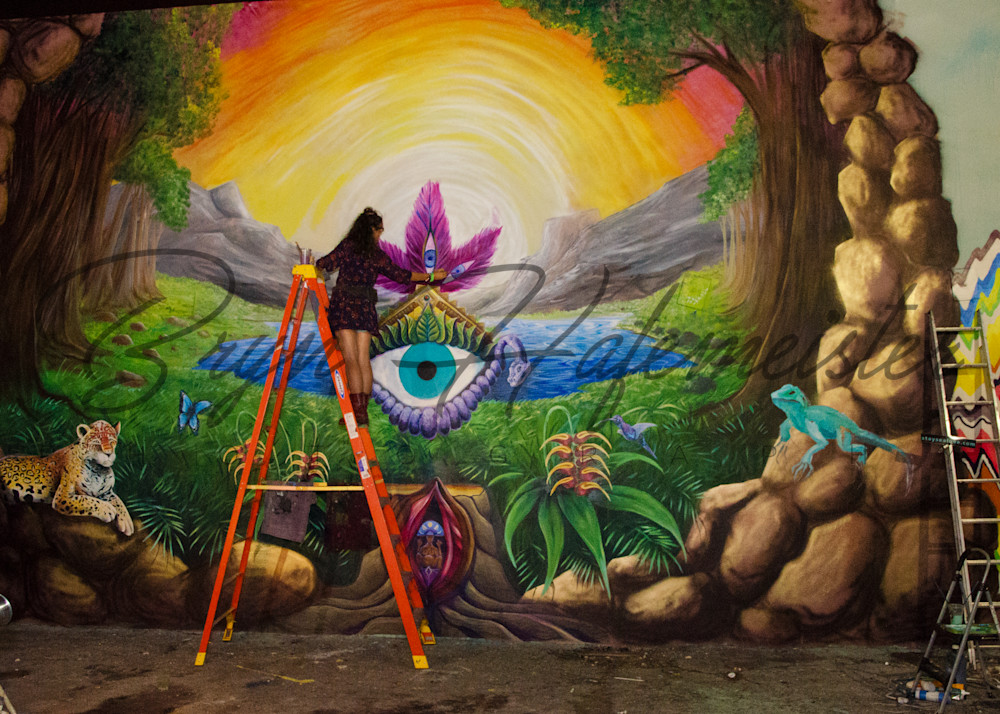 Woman Painting A Mural | Fine Art Travel Photographs