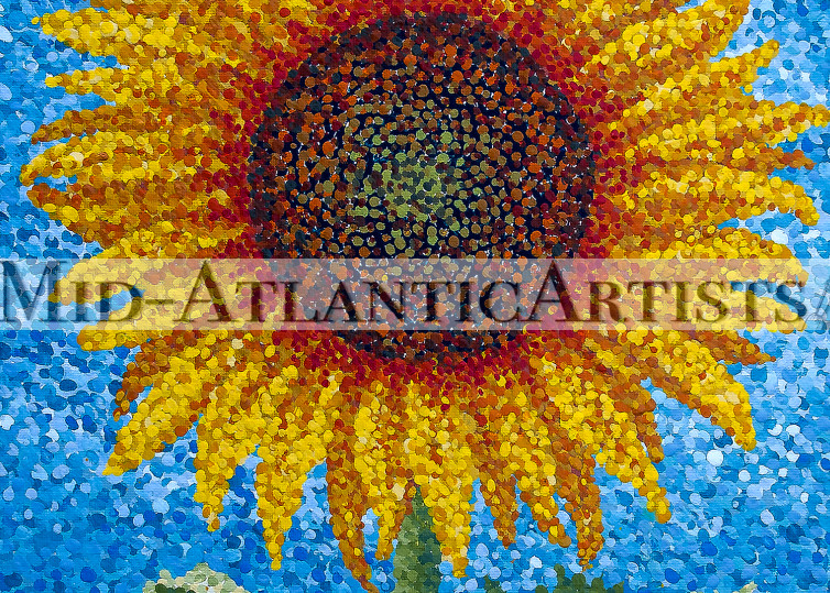 Solitary Sunflower Print