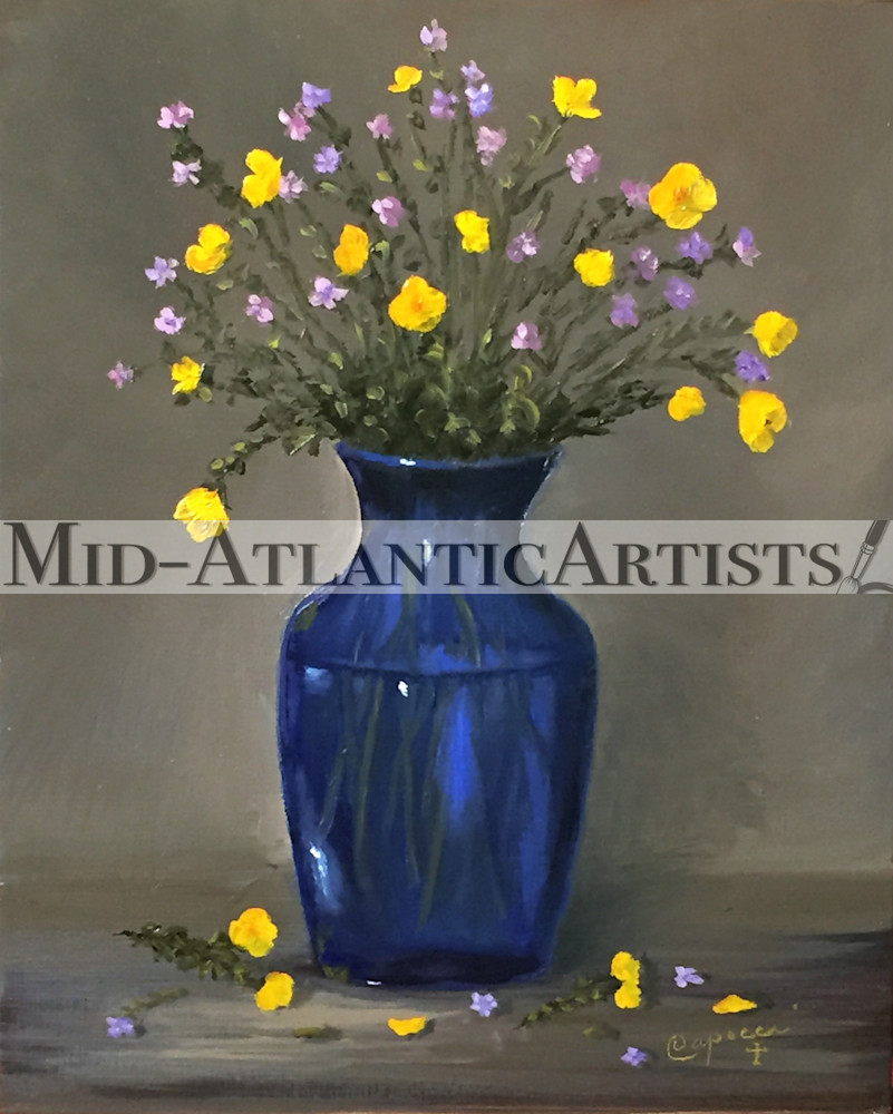 Buttercups And Forget Me Nots Art   Mid-AtlanticArtists.com