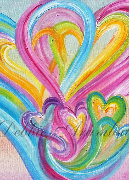 Six Heart Family Art | Heartworks Studio Inc