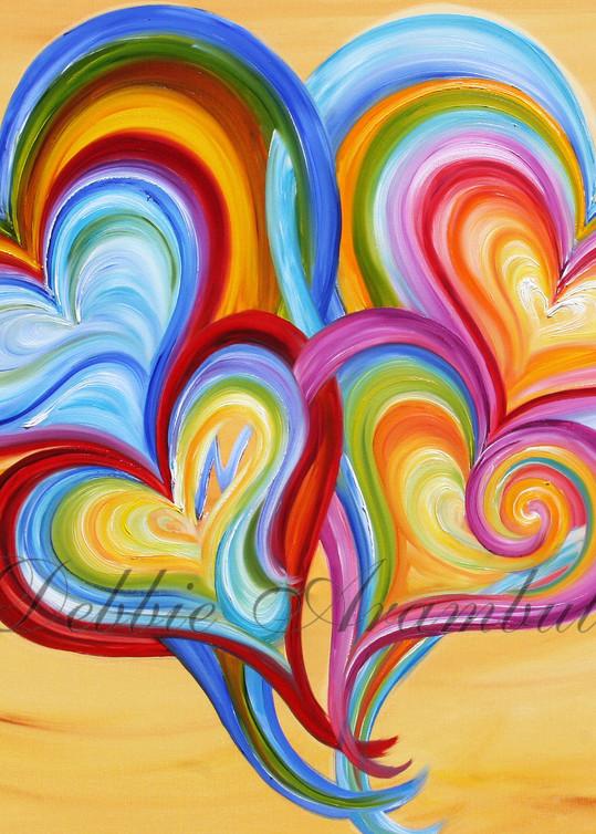 Family Love Yellow Art | Heartworks Studio Inc