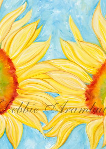 Dancing Sunflowers Art   Heartworks Studio Inc
