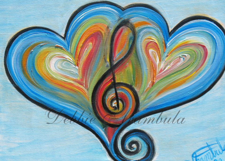 Two Heart Rhythm And Blues Art | Heartworks Studio Inc