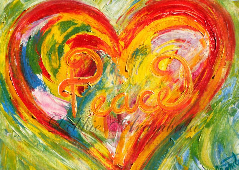 Peace Abstract Art | Heartworks Studio Inc