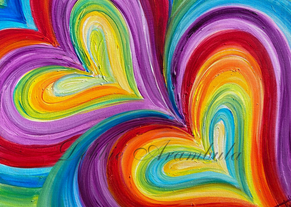 Purple  Love Vibration Art | Heartworks Studio Inc