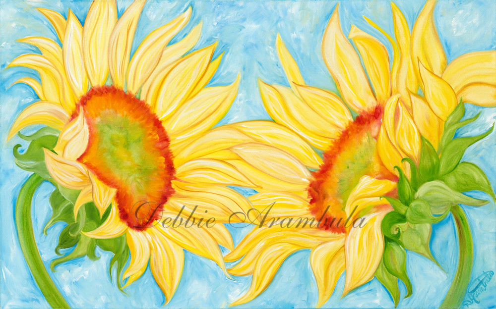 Dancing Sunflowers Art | Heartworks Studio Inc