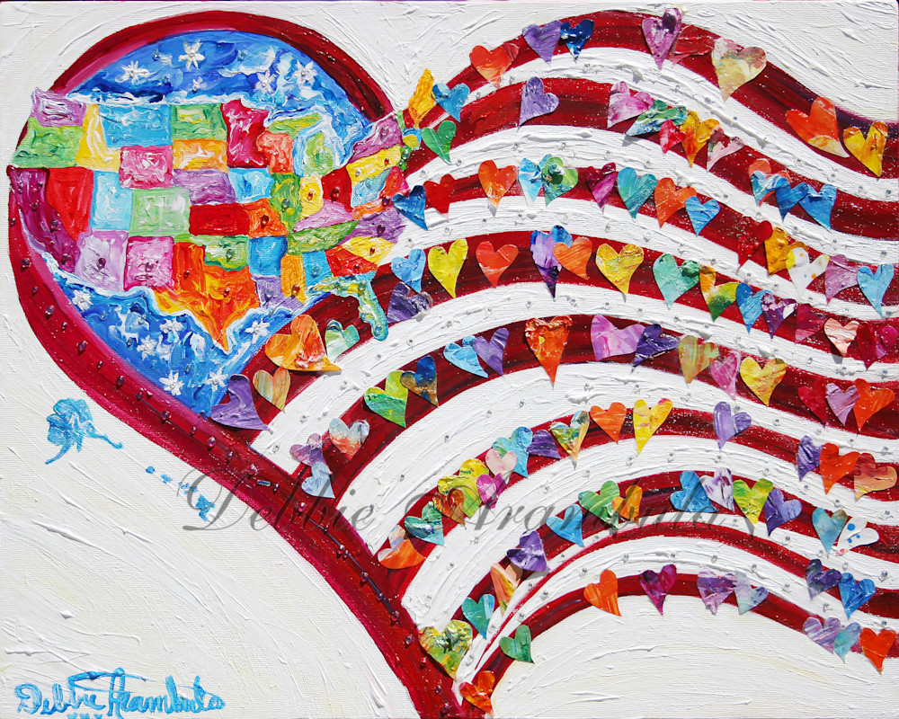 United We Stand Art | Heartworks Studio Inc