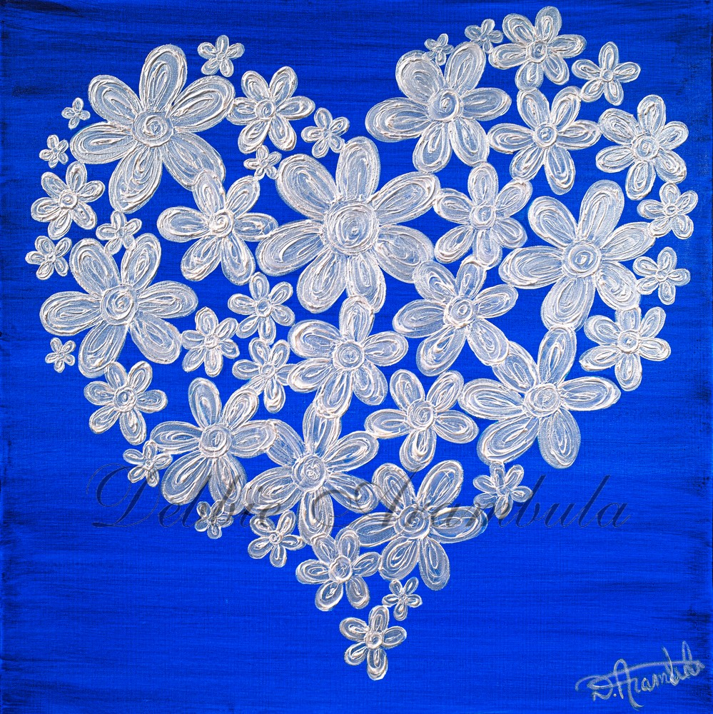 Twitterpated In Blue Art | Heartworks Studio Inc