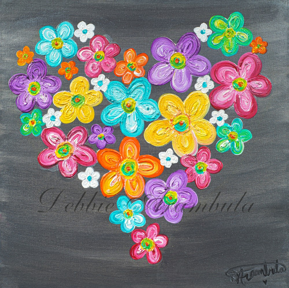 Twitterpated In Silver  Art | Heartworks Studio Inc
