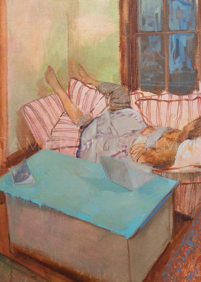 Sleeping oil on canvas