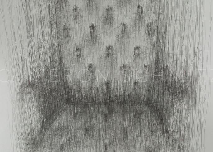 Listen IV graphite on paper