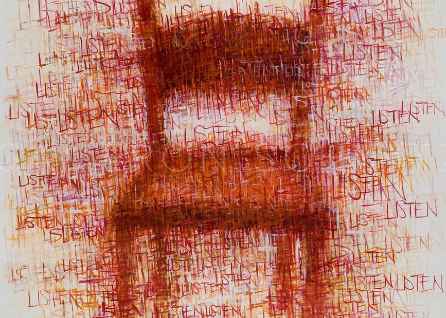 Listen xxi oil on canvas