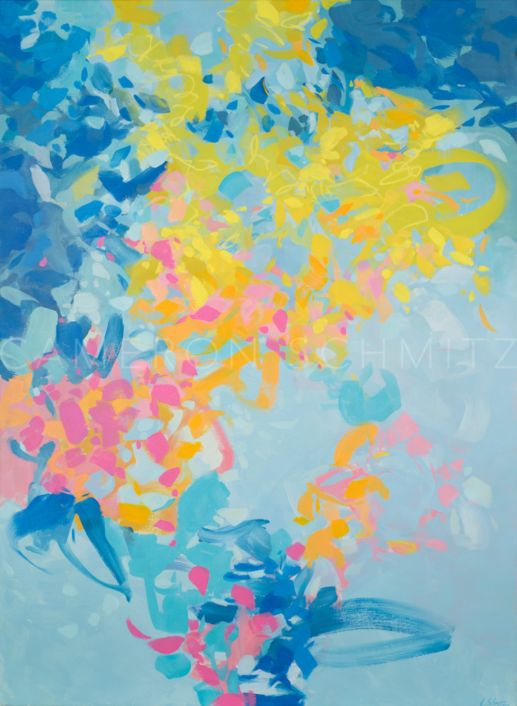 """Joyful Descent"" is an archival pigment print based of an original oil on panel by Cameron Schmitz"