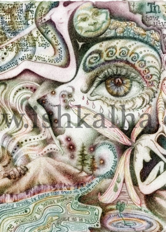 Rumi Love (Colored) Art   The Art of Ishka Lha