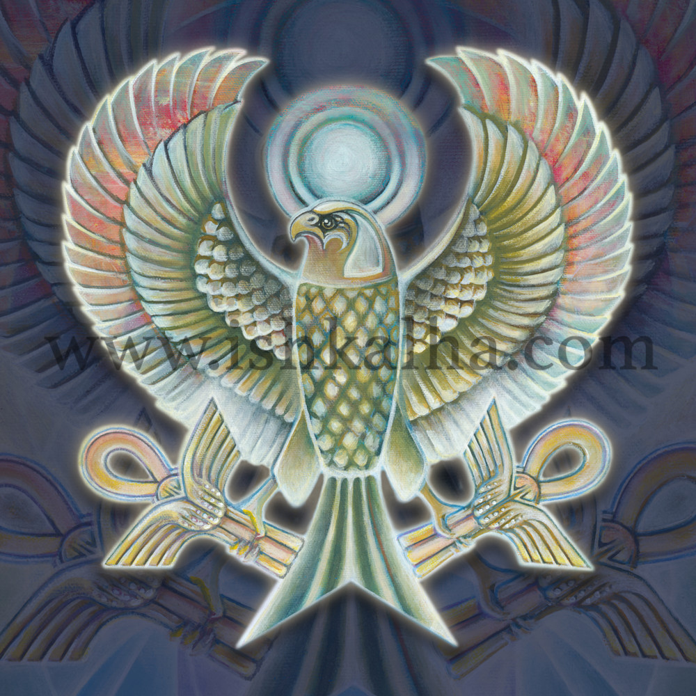 Falcon Victorious - Fine Art Prints for Sale - The Art of  Ishka Lha