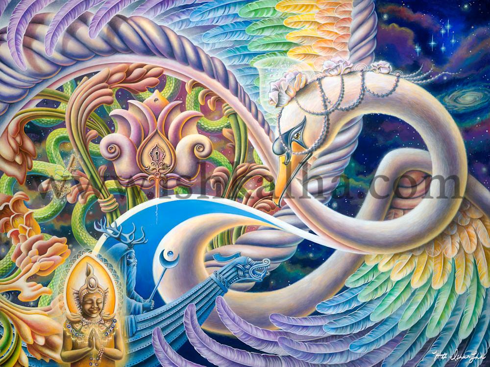 Once I Meta Swan - Fine Art Prints - The Art of Ishka Lha