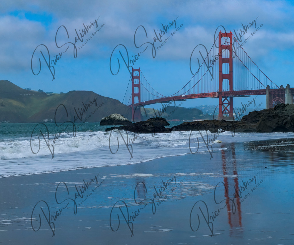 Golden Gate Reflection Photography Art | FocusPro Services, Inc.