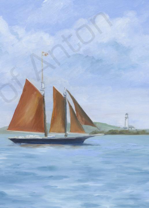 """Red Sails"" by artist, Anton Uhl"