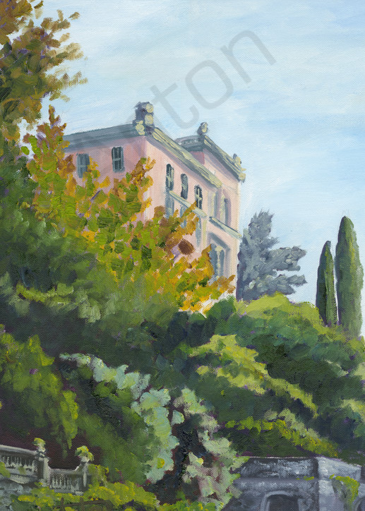 Villa On Lake Como by artist, Anton Uhl