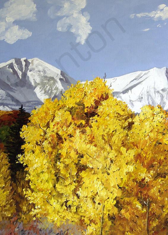 Sopris Gold by artist, Anton Uhl