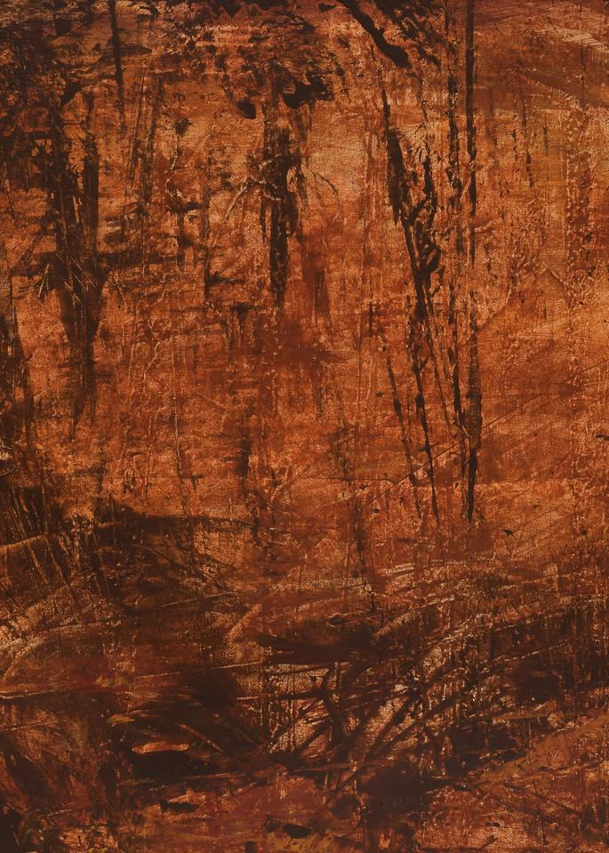 """Communion 1"" - triptych, left panel by artist, Anton Uhl"