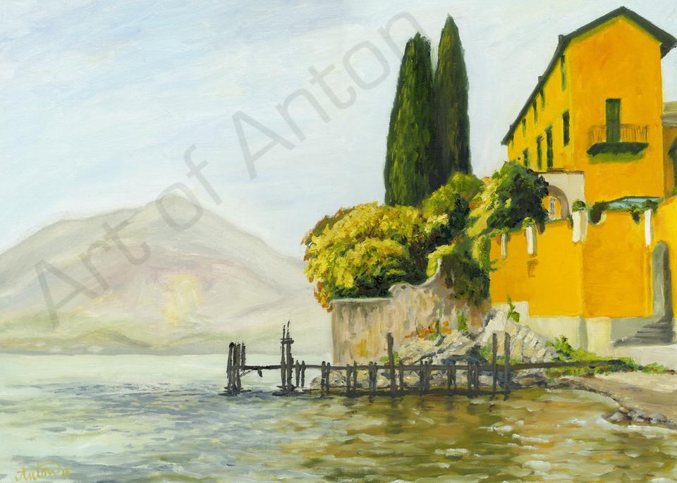 Yellow House by artist, Anton Uhl