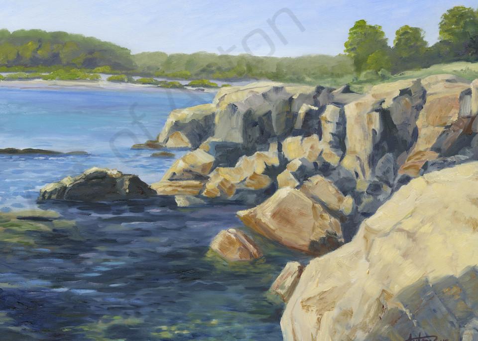 """""""Sea Rocks"""" by artist, Anton Uhl"""