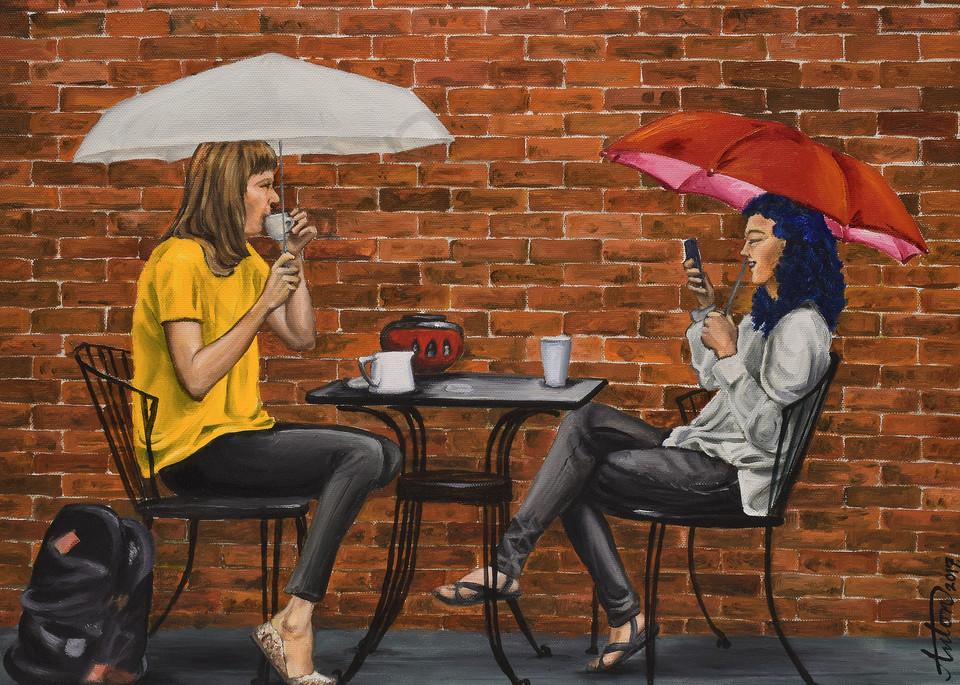Rain Café by artist, Anton Uhl